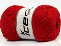 Přírodní bavlna - červená 1