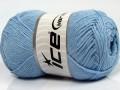 Přírodní bavlna - dětská modrá 2