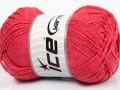 Přírodní bavlna - lososová 1