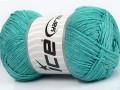 Přírodní bavlna - mátově zelená 1