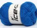 Přírodní bavlna - modrá 1