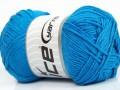 Přírodní bavlna - modrá