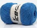 Přírodní bavlna - modrá 2