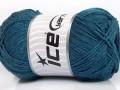 Přírodní bavlna - modrozelená