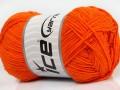 Přírodní bavlna - oranžová