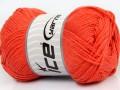 Přírodní bavlna - oranžová 2