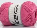 Přírodní bavlna - růžová 1