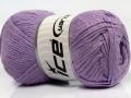 Přírodní bavlna - světle fialová