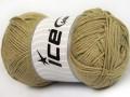 Přírodní bavlna - světle khaki