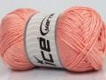Přírodní bavlna - světle lososová 1