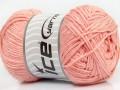 Přírodní bavlna - světle lososová