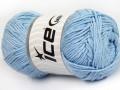Přírodní bavlna - světle modrá 1