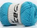 Přírodní bavlna - světle modrá
