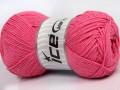 Přírodní bavlna - světle růžová 1