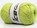 Přírodní bavlna - světle zelená 1