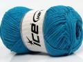 Přírodní bavlna - tyrkysová 2