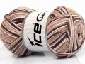 Přírodní bavlna vícebarevná - béžovorůžovokaštanová