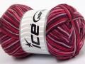 Přírodní bavlna vícebarevná - kaštanovorůžovofialová