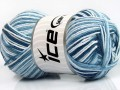 Přírodní bavlna vícebarevná - modrobílé odstíny