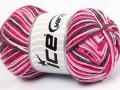 Přírodní bavlna vícebarevná - růžovošedá