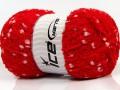 Puffy pompom - červená 1
