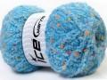 Puffy pompom - modrá