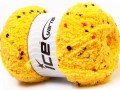 Puffy pompom - tmavě žlutá