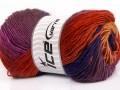 Rainbow - červenonámořnickápurpurovoměděnolososová