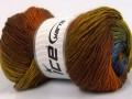Rainbow - hnědozelenomodré odstíny