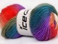 Rainbow - khakityrkysovofialovolososovobílá