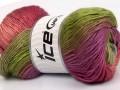 Rainbow - zelenofialovorůžovo odstínyšedá