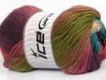 Rainbow - zelenorůžovofialová