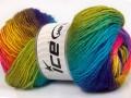 Rainbow - zelenotyrkysovomodrozlatorůžová