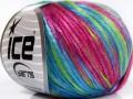 Rockabilly color - fuchsiovozeloenomodrá