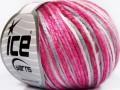 Rockabilly color - růžovobílošedá