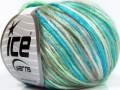 Rockabilly color - tyrkysovobéžovomátová