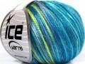 Rockabilly color - tyrkysovošedoneonovězelená