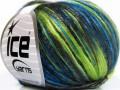 Rockabilly color - zelenomodročernohnědá