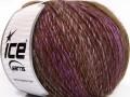 Roseto worsted - hnědo fialová