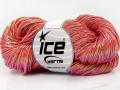 Ručně barvená bavlna plus - lososová