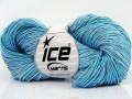Ručně barvená bavlna plus - modrá