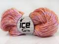 Ručně barvená bavlna plus - světle lososová