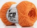 Sally bavlna - světle oranžová