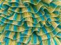 Samba - tyrkysovozelenožlutostříbrná