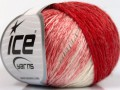 Soft chain vlna - červenobílá 1