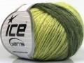 Soft chain vlna - zelené odstíny