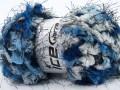 Softly chunky - modrobílé odstíny