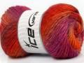 Sultan vlna - oranžovopurpurová