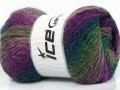 Sultan vlna - purpurovozelené odstíny
