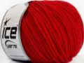 Superwash merino - červená
